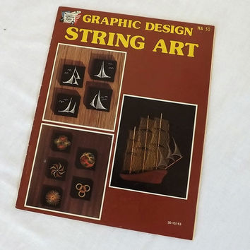 Dimensional String Art Pattern Booklet Vintage 1976