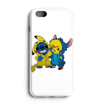 """Apple Iphone 6 Plus 5.5"""" Case - The Best 3d Full Wrap Iphone Case - Pikachu And Stitch"""