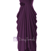Floor Length Chiffon Bridesmaid Dress Sweetheart Formal Dress Byzantium(BM332L)