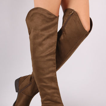Suede Riding Knee High Boots | UrbanOG