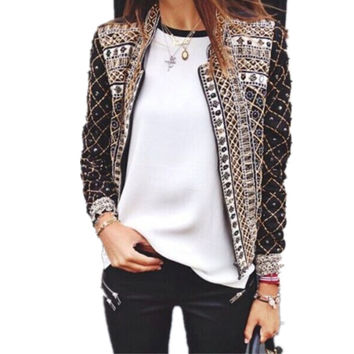 Women Blazers And Jackets 2016 Summer Blazer Casual Ladies Suit Long Sleeve Women Blazers Coats Outwear Tops Feminino Jaqueta