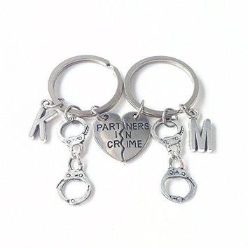 Partners in crime keychain
