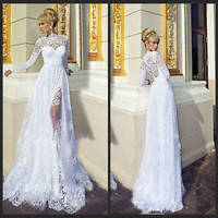 2015 New Sexy White/Ivory  Lace Wedding Dress Bridal Gown Size 6 8 10 12 14 16+