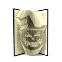 Book folding pattern - HALLOWEEN PUMPKIN - 2 different sizes included 207 and 245 folds + Tutorial with Simple pattern - Heart - SI0515
