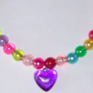 Candy Couture  Kawaii Rainbow Rave Stretch Choker by onsecretwings