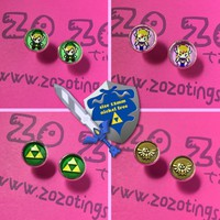Legend of Zelda Stud Earrings by Zo Zo Tings