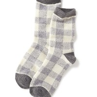 Old Navy Buffalo Check Socks