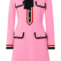 Gucci - Grosgrain-trimmed jersey mini dress