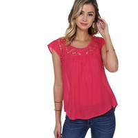 Pink Sing Me A Song Crochet Top