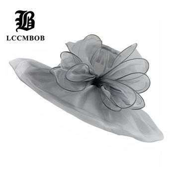 [FLB] Elegant Fashion Women's Church Hats For Women Flower Hat Summer Gorras Sun Hat Wedding Kentucky Derby Wide Brim Sea Beach