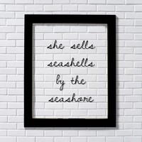 She Sells Seashells by the Seashore - Girl's Room - Nursery Decor - Beach Theme - Ocean Sand