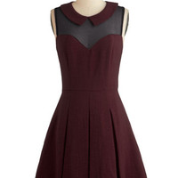 Served on Skates Dress in Burgundy | Mod Retro Vintage Dresses | ModCloth.com