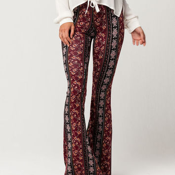 IVY & MAIN Tiny Paisley Womens Flare Pants