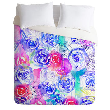 Holly Sharpe Rose Garden 02 Duvet Cover