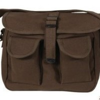 Rothco Canvas Ammo Shoulder Bag, Earth Brown
