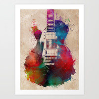 guitar art #guitar Art Print by jbjart