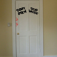 Dont open Dead inside walking dead door by Walkingdeadpromotion