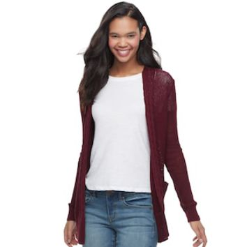 Juniors' SO® Boyfriend Cardigan | null