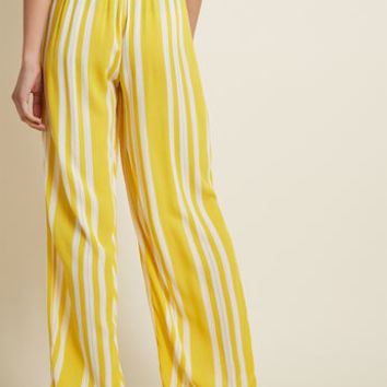 Brunch to Beach Wide-Leg Pants in Yellow