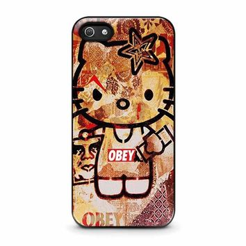 obey hello kitty iphone 5 5s se case cover  number 1
