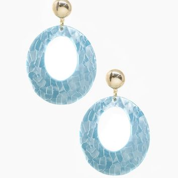 Catch The Wave Earrings - Aqua & Gold