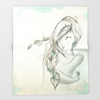 DownWind Throw Blanket by LouJah | Society6