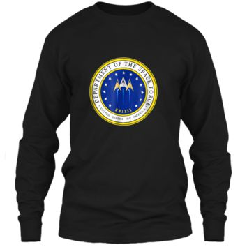 Department of Space Force Funny Political Satire T-Shirt LS Ultra Cotton Tshirt