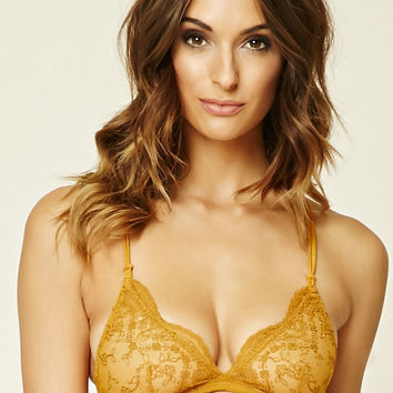 Embroidered Mesh Bralette