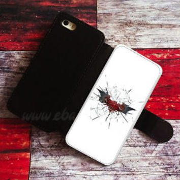 Batman Superman Wallet iPhone Cases Cracked Glass Samsung Wallet Logo Phone Case