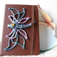 Jewelled Dragonfly Fantasy Mini Sketchbook with Swarovski Crystal