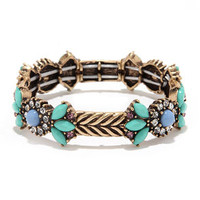 Know What I Gleam? Teal Rhinestone Bracelet