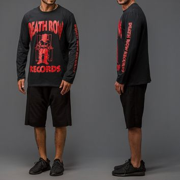 ca kuyou DEATH ROW RECORDS LONG SLEEVE T-SHIRT