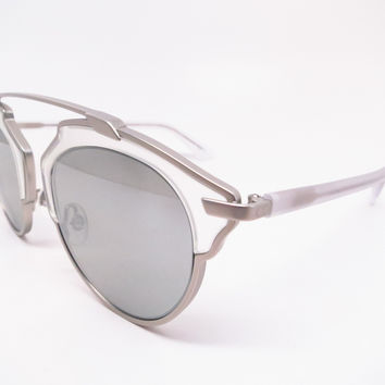 Dior So Real RMRLR Matte Silver Crystal Sunglasses