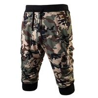 New Men Camo Jogger Sweatpants Shorts Summer Casual Bermuda Masculina Mens Activewear Gay Fashion Camouflage Men Short Pants