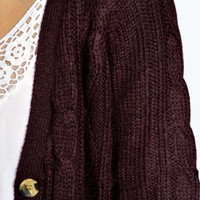 Lilly Cable Cardigan With Patch Pockets