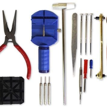 Tool Kit  Watch Repair 16 Pieces repair many styles of watches and watch bands