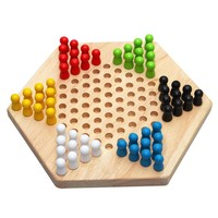 Super Sell Traditional Hexagon Wooden Chinese Checkers Family Game Set For Kids Adults Gifts BM88