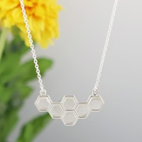 Just Bee Honeycomb Necklace