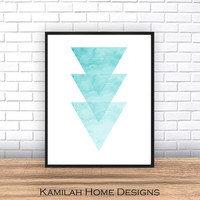 Triangle Print, Printable Art, Geometric Art print, Scandinavian Design, Geometric Art, Minimalist Art, Abstract Wall Art, Art Poster