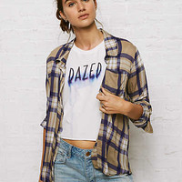 Don't Ask Why Plaid Shirt, Olive