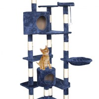"New Cat Tree 80"" Condo Furniture Scratching Post Pet Cat Kitten House T72"
