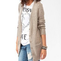 Longline Multi-Knit Cardigan