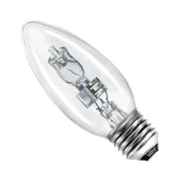 Candle 42w E27/ES 240v Bell Lighting Clear Energy Saving Halogen Light Bulb - 35mm - 05207