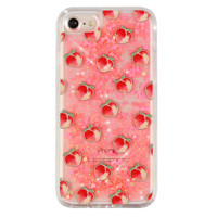 Peach Dual Glitter iPhone Case