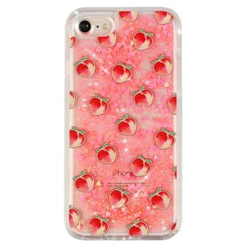 Peach Glitter iPhone Case