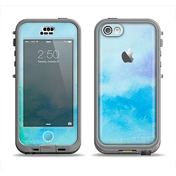 The Subtle Green & Blue Watercolor V2 Apple iPhone 5c LifeProof Nuud Case Skin Set