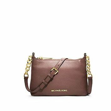 michael kors stylish waterproof bedford leather crossbody bag