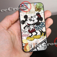 Mickey Mouse and Minnie Mouse Disney for iPhone 4/4s/5/5s/5c Case, Samsung Galaxy S3/S4 Case