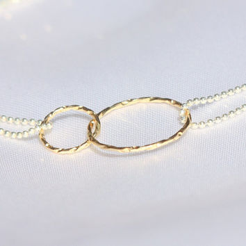 Infinity necklace -  gold and silver necklace - best friend infinity necklace,  delicate necklace, thin gold infinity