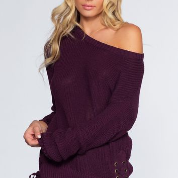 Rylee Sweater - Plum